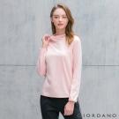 GIORDANO 女裝G-MOTION系列連帽休閒圓弧下擺造型上衣 - 26 薄紗粉紅