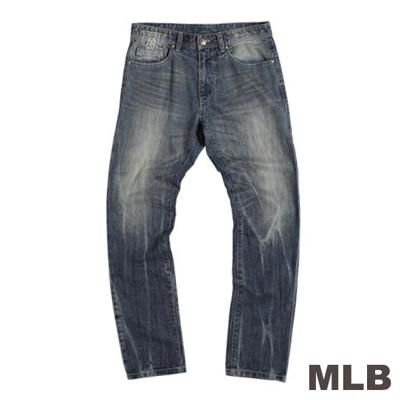 MLB-紐約洋基隊復古水洗丹寧褲-藍(男)
