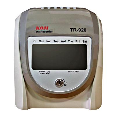 KOJI TR-920 微電腦LCD打卡鐘