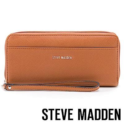 STEVE MADDEN-BSHAELA-素面LOGO百搭長夾-棕色