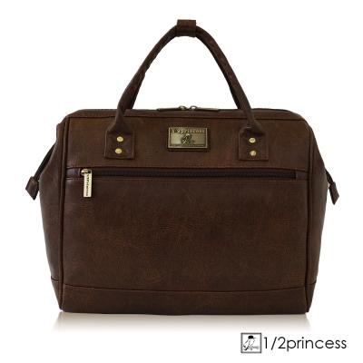 1/2princess二代復古皮革經典4WAY醫生包後背包-咖啡[A2746](快)