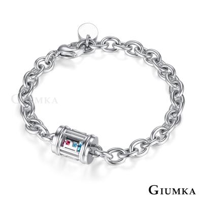 GIUMKA白鋼情侶手鍊 心戀寶盒系列HOPE-共2款