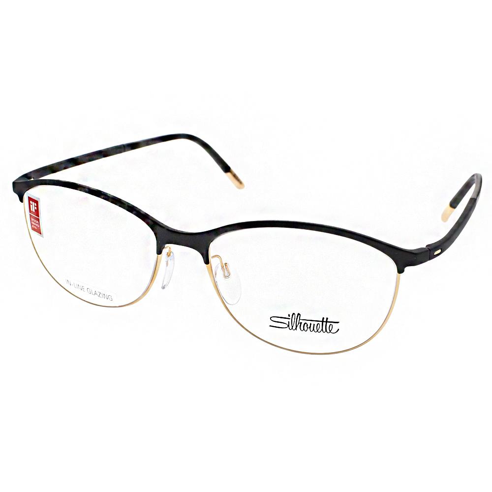Silhouette詩樂眼鏡 極微工藝/黑-金#ST1574 C6050