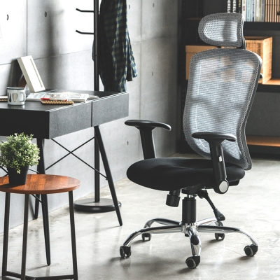 完美主義 頭靠美臀機能鐵腳電腦椅/辦公椅/附衣架(2色)