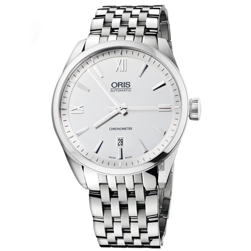 ORIS豪利時 ARTIX 天文台日期機械錶-銀/42mm