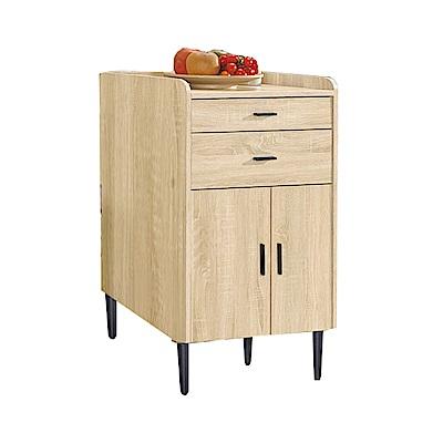 品家居  薛萊克2尺二門二抽展示櫃/收納櫃(三色可選)-60x40x98cm免組