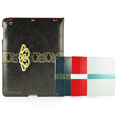 Garmma Leather Case for New iPad/iPad 2 古典皮套