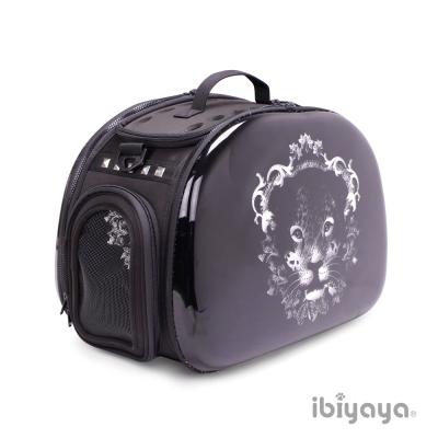 IBIYAYA依比呀呀-FC1220透明膠囊寵物提包-黑錢豹