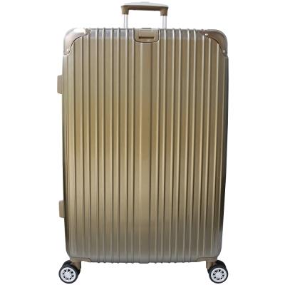 YC Eason 麗致20吋PC髮絲紋可加大海關鎖行李箱 鈦金