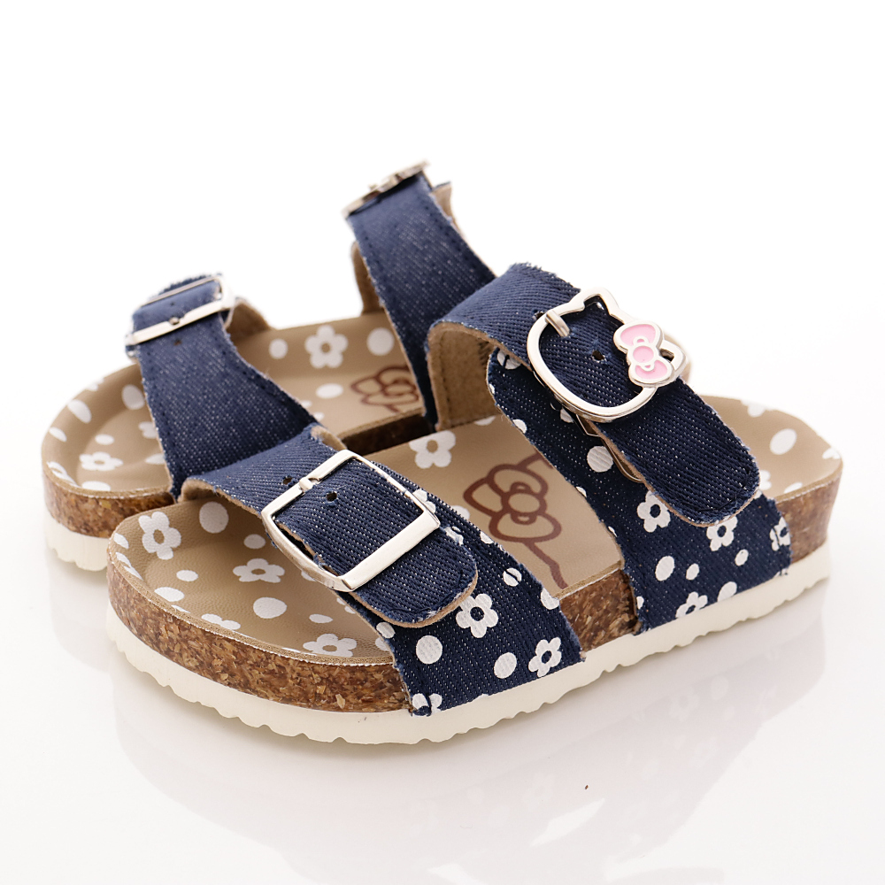 HelloKitty童鞋 軟木涼鞋款 EI17918 藍 (小童段)T1