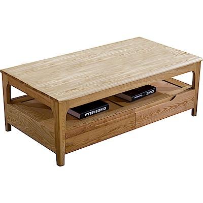 擇木深耕-貝爾4尺實木茶几桌-126x65x48cm