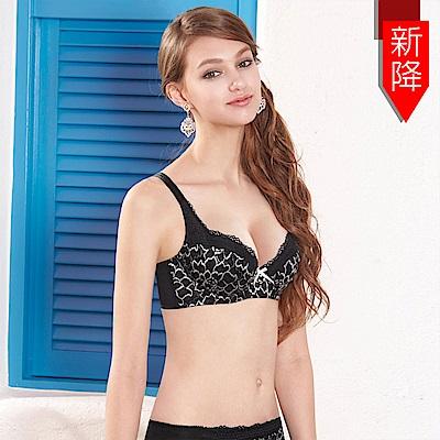 曼黛瑪璉-包覆提托春夏經典內衣 B-E罩杯(黑)