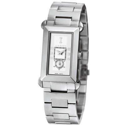 ICEBERG 舊愛新歡系列不鏽鋼錶帶腕錶-白/34mm