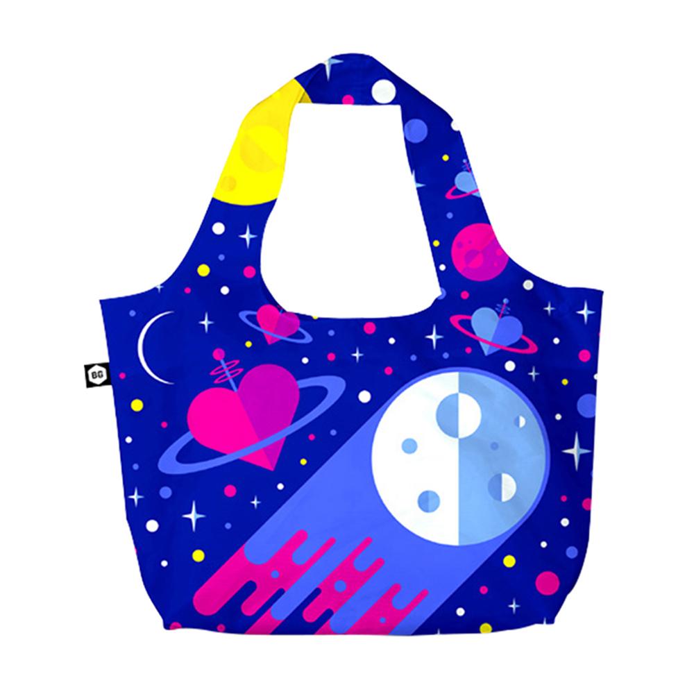 BG Berlin 摺疊環保袋-藍色星球
