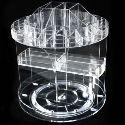 360度旋轉透明化妝品收納架一個