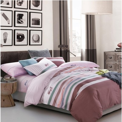 美夢元素 台製-精梳棉-兩用被床包組-幾何時尚(加大)