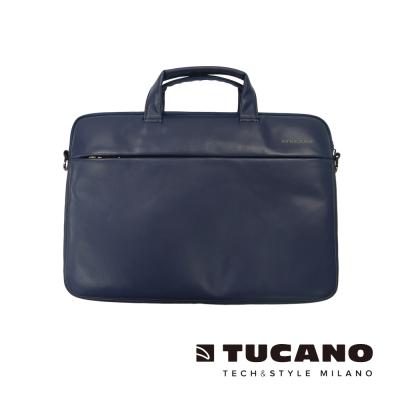 TUCANO Fina Premium MacBook 13吋義大利真皮側背包-藍