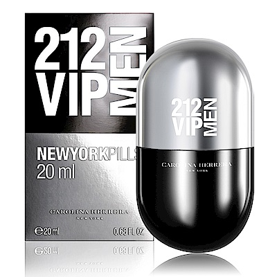 Carolina Herrera 212VIP男性淡香水紐約小膠囊(黑) 20ml