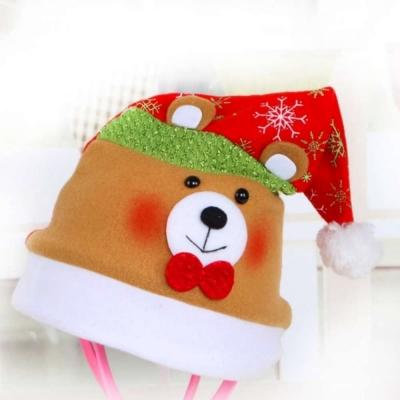 耶誕派對-可愛熊聖誕帽