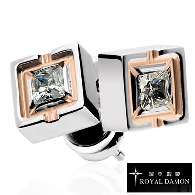 Royal-Damon羅亞戴蒙-純真-耳環-玫瑰金