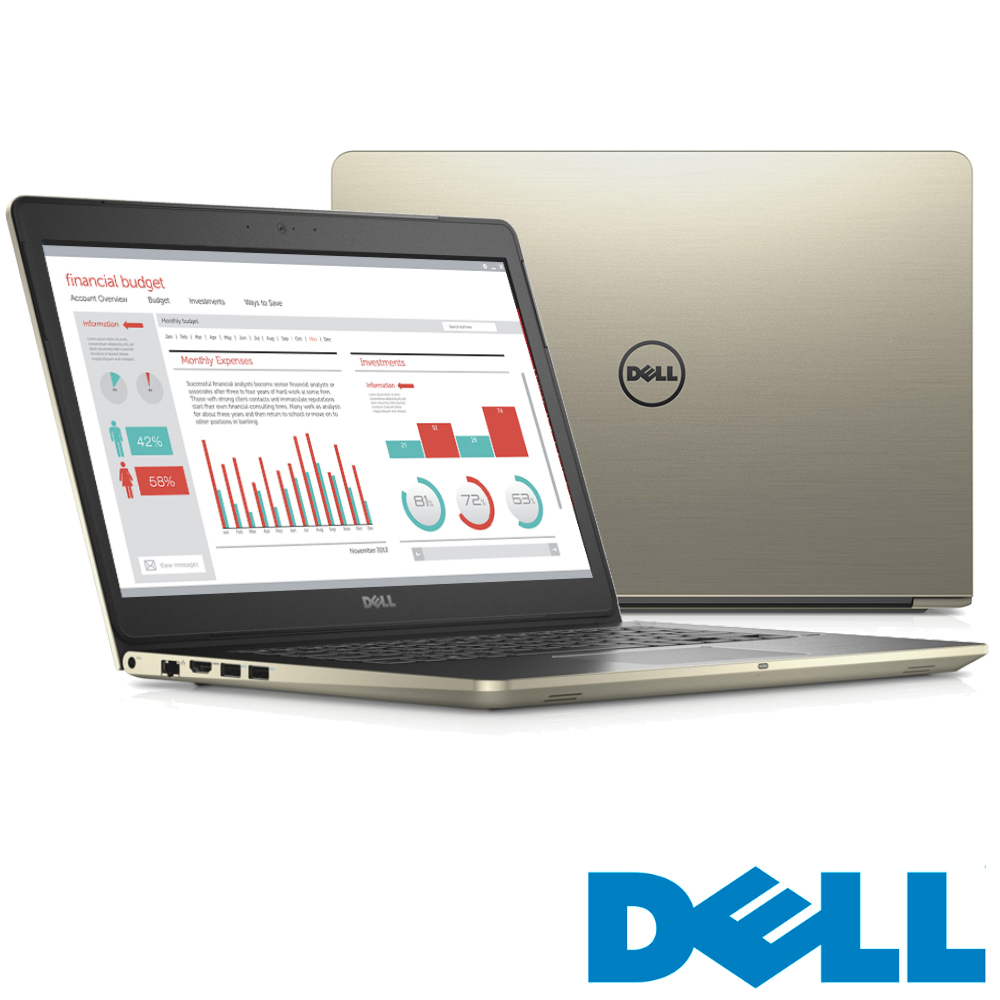 Dell Vostro 14吋筆電(i5-6200U/4G/128G/Win7Pro/金)