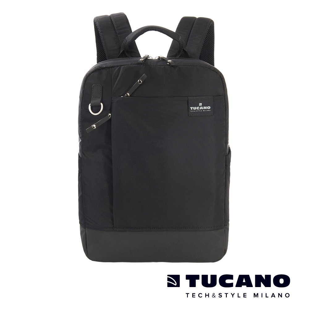 TUCANO AGIO 13吋極簡都會商務後背包-黑
