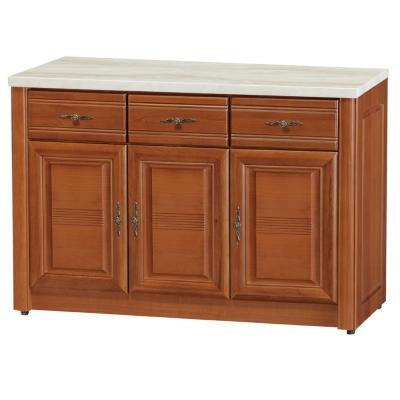 品家居 雪芙4尺樟木石面餐櫃下座-120x45.5x82cm-免組