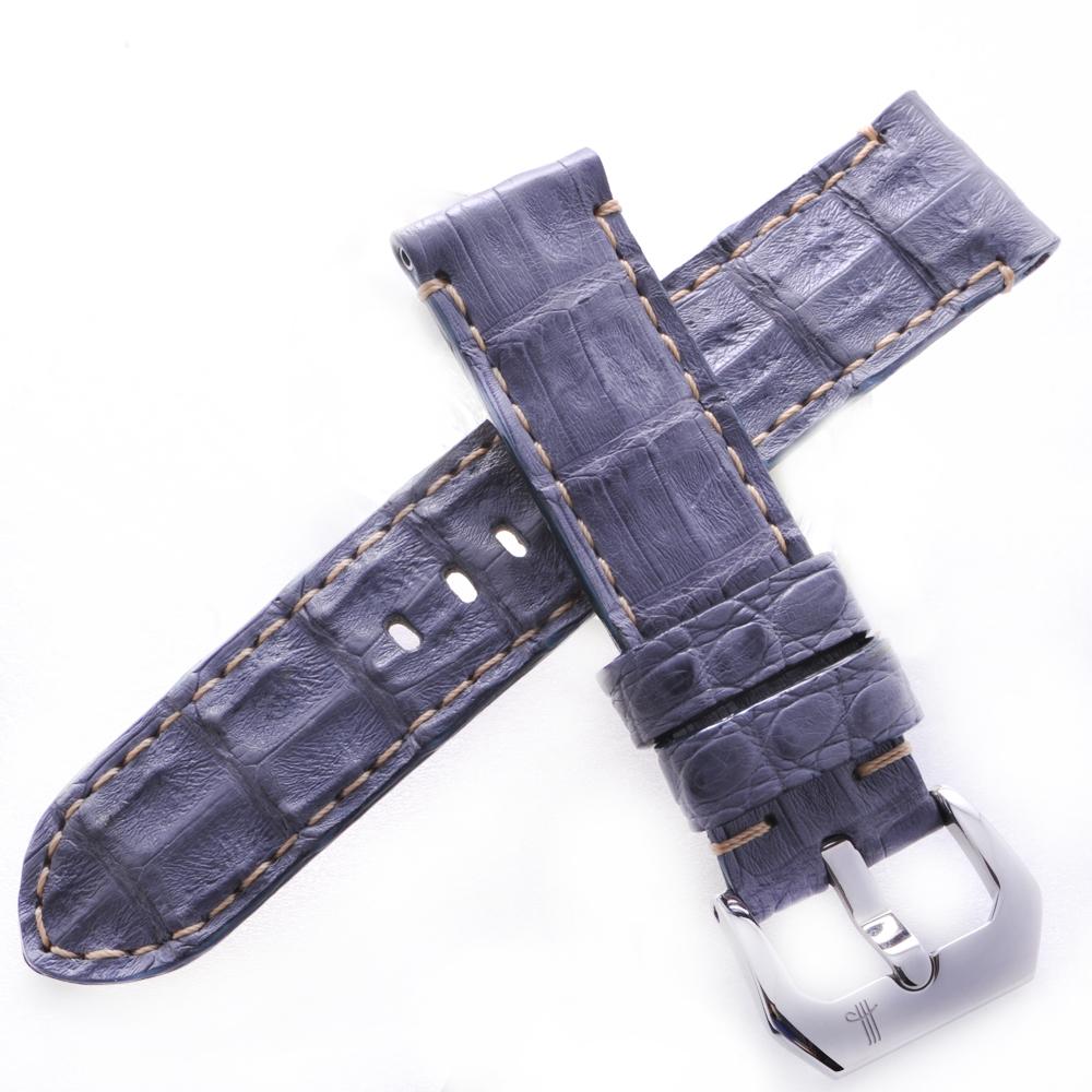 TED SU 太和錶帶 巴塞隆納PANERAI沛納海代用帶灰藍米色線-22*22mm