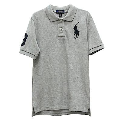 Ralph Lauren 男童數字3經典大馬短袖POLO衫-灰色(M 10-12歲)