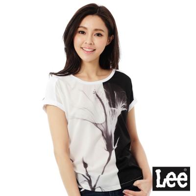 Lee 照片印刷短袖T恤-女-白