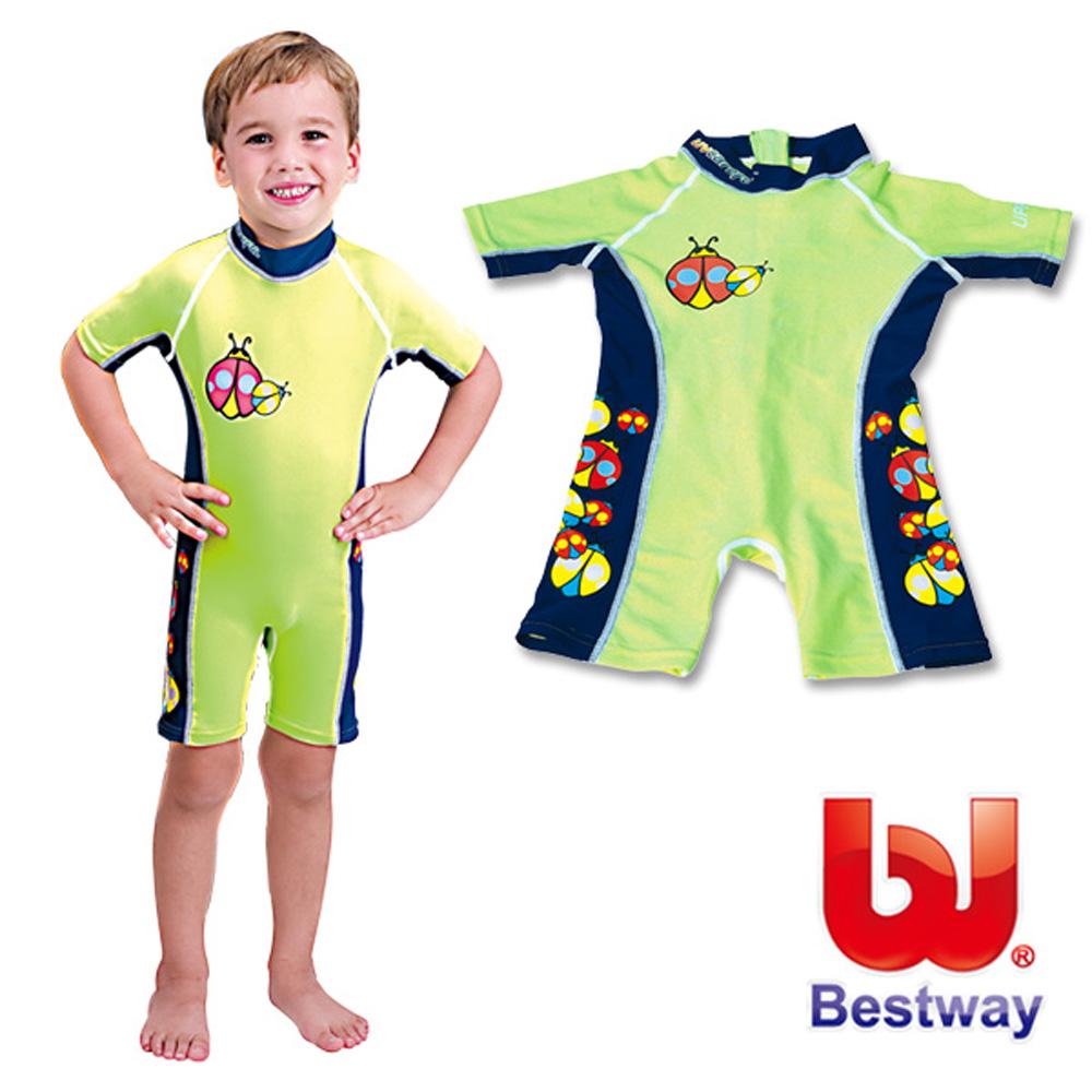 美國品牌【Bestway】兒童抗UV連身泳衣-男