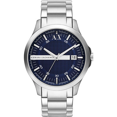A│X Armani Exchange 雅痞時尚風格腕錶-藍46mm
