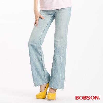 BOBSON 女款寬潮作喇叭褲