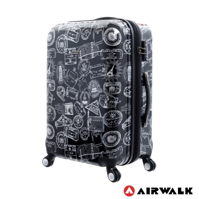 AIRWALK LUGGAGE - 精彩歷程 環郵世界行李箱24吋 - 遊玩靚黑