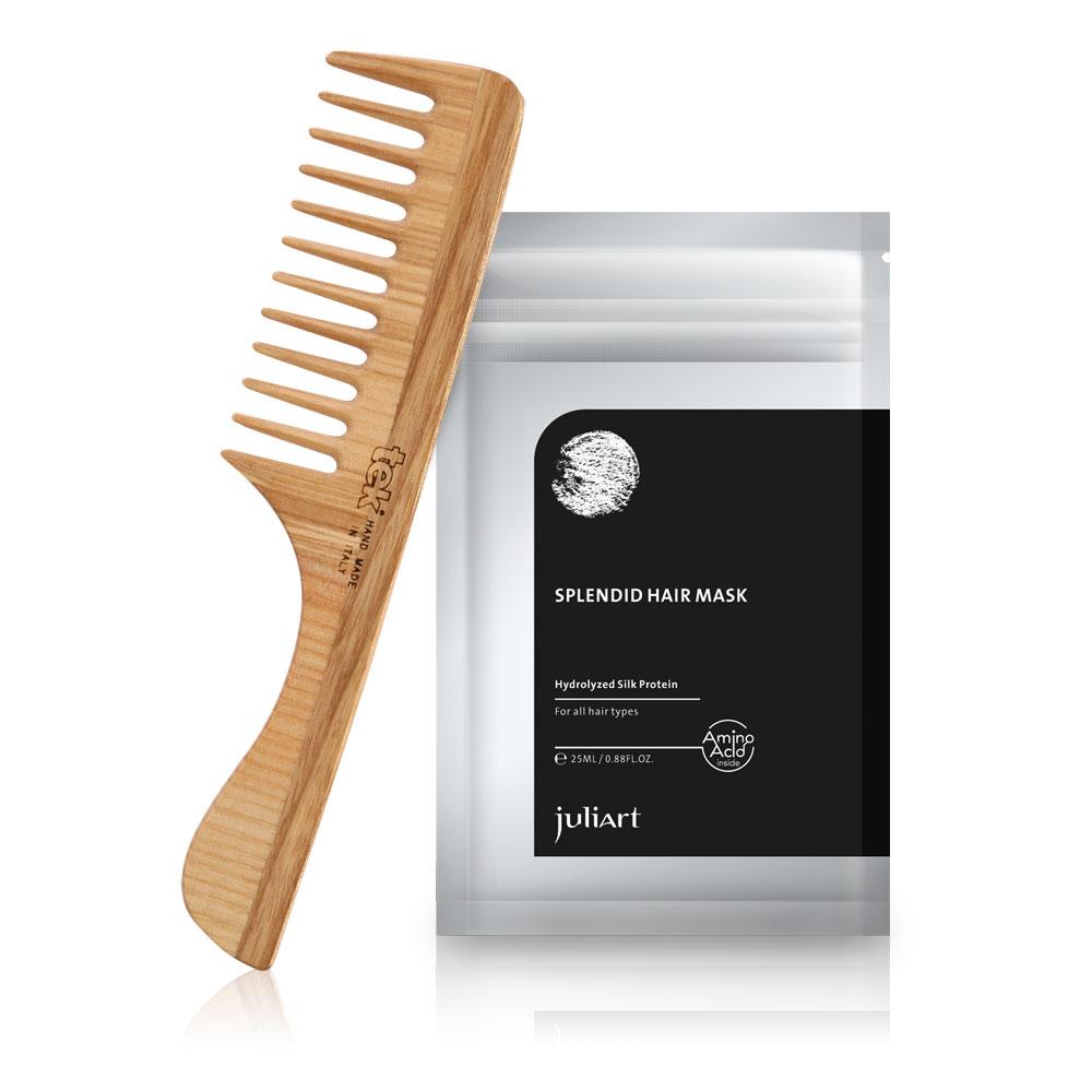 Tek 濕髮修護獨家限定組(tek漾髮梳+護髮膜25mL)