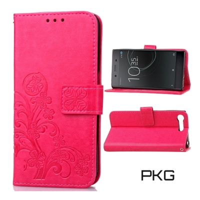 PKG SONY Xperia XZ Premium 皮套-側翻磁扣-精緻玫紅