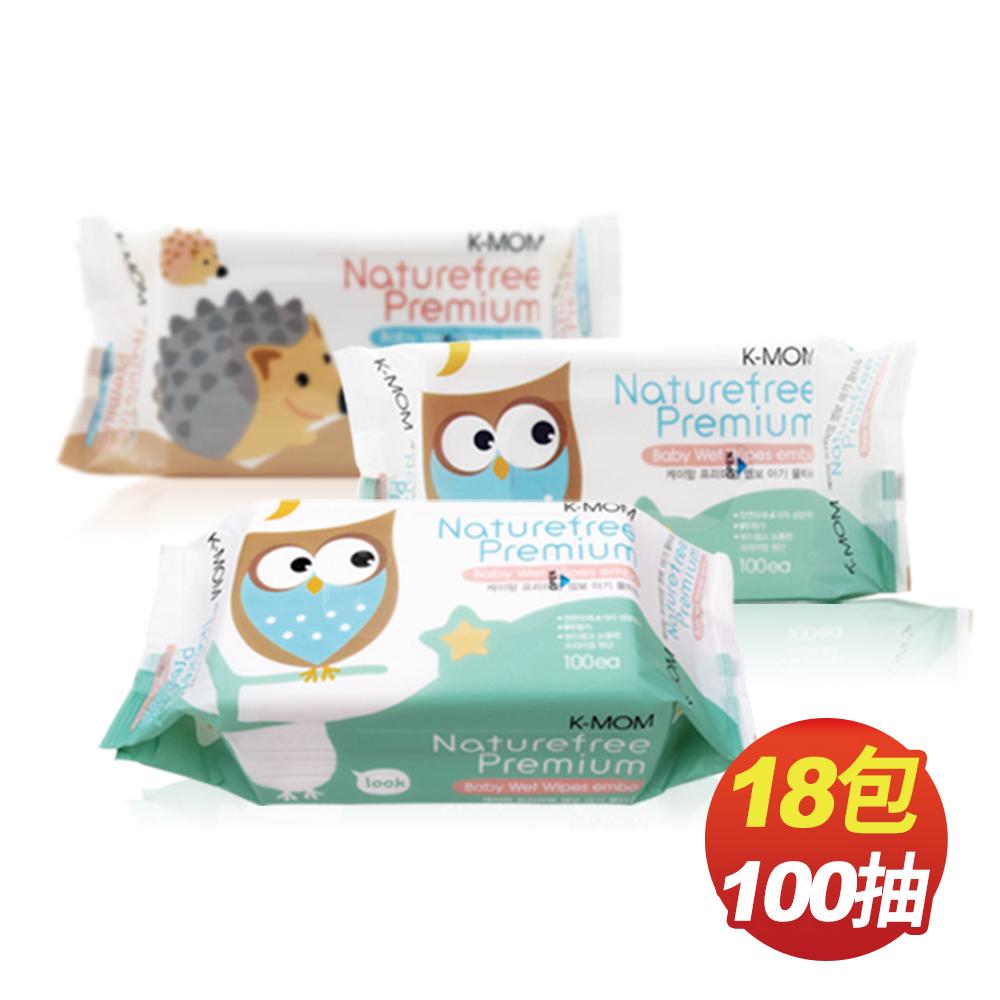 韓國MOTHER-K純淨自然幼兒濕紙巾(100抽x18包/箱)-柔花款(包裝隨機出貨)