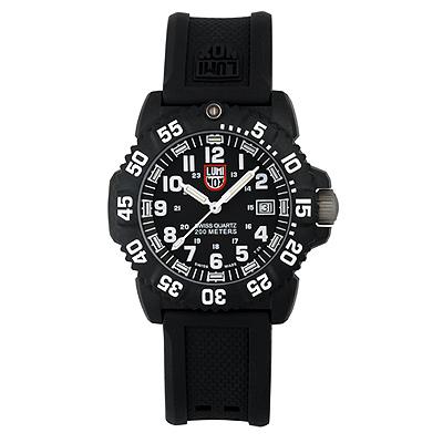 Luminox 海豹部隊指標系列經典女錶-黑x白時標/ 38 mm