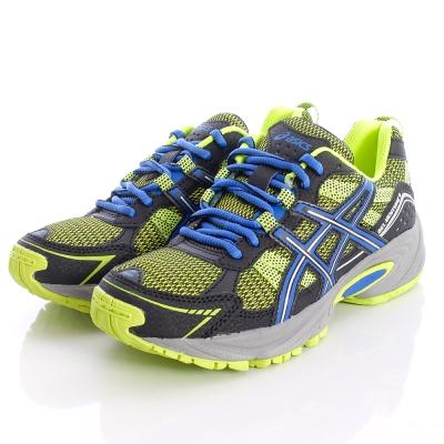 asics競速童鞋-亮彩避震運動鞋款-C404N-0742黑黃(中大童段)