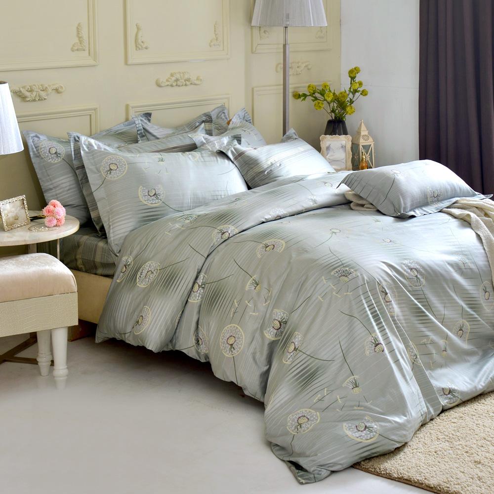 MONTAGUT-蒲公英的爵士-高密度精梳棉-雙人四件式薄被套床包組