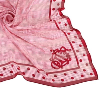 Christian Dior 素面皇家徽紋大領巾-粉紅