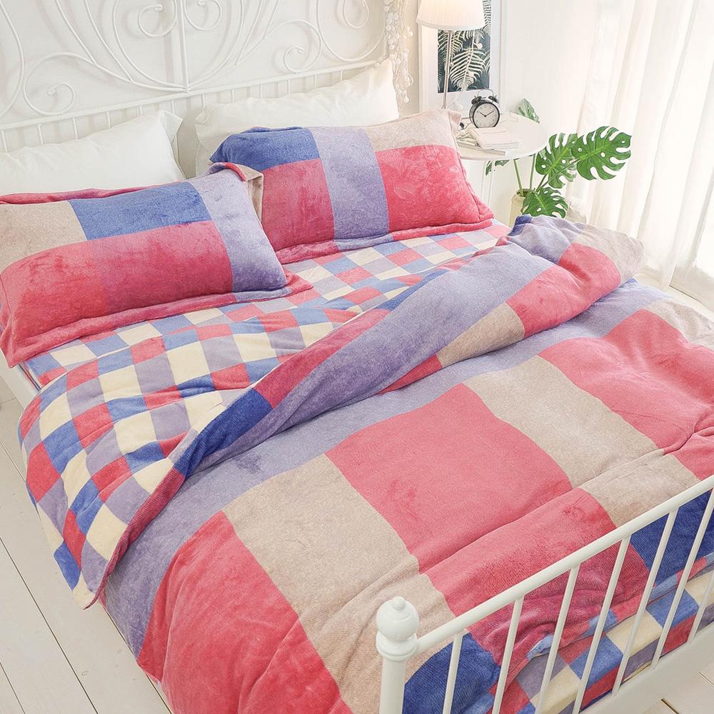 絲薇諾  馬蒂斯調色盤  雙人特大四件式-極致保暖法蘭絨床包被套組
