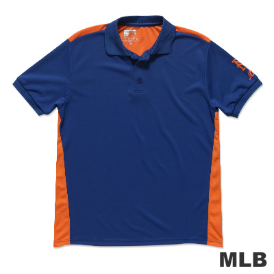 MLB-紐約大都會隊修身撞色快排POLO衫-藍(男)