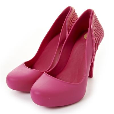Melissa-天使之翼絕美高跟鞋-桃紅