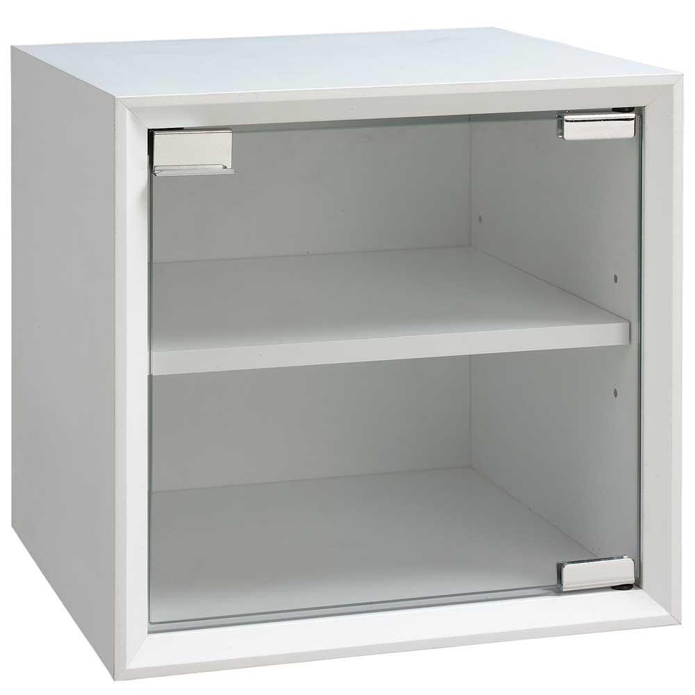 魔術方塊30系統收納櫃/玻璃門櫃-白色