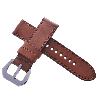 TED SU 太和錶帶 法櫃奇兵Panerai 沛納海代用帶軍帶卡其同色線-24*24mm