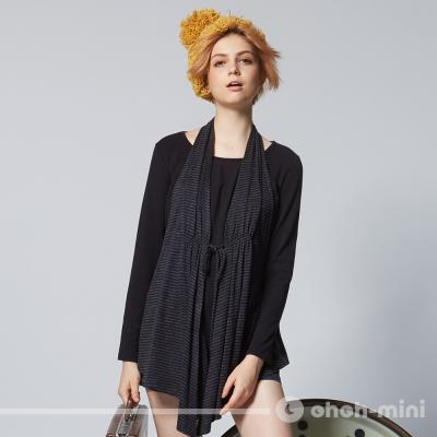 【ohoh-mini 孕婦裝】腰肩膀帶假兩件孕哺上衣
