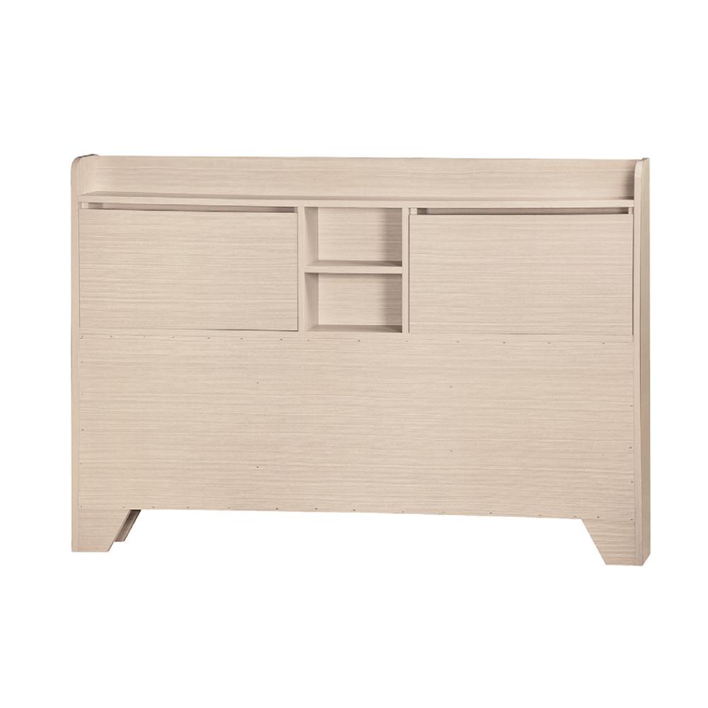 AS-路5尺洗白H型床頭片-154.2x11.7x102cm