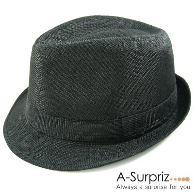 A-Surpriz 帥性雅痞風格紳士草帽(低調黑)