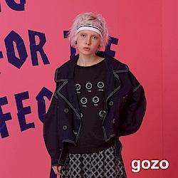 gozo 表情符號造型長袖運動風上衣 (二色)